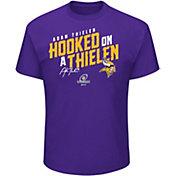 NFL Men's Minnesota Vikings 'Hooked On A Thielen' Purple T-Shirt