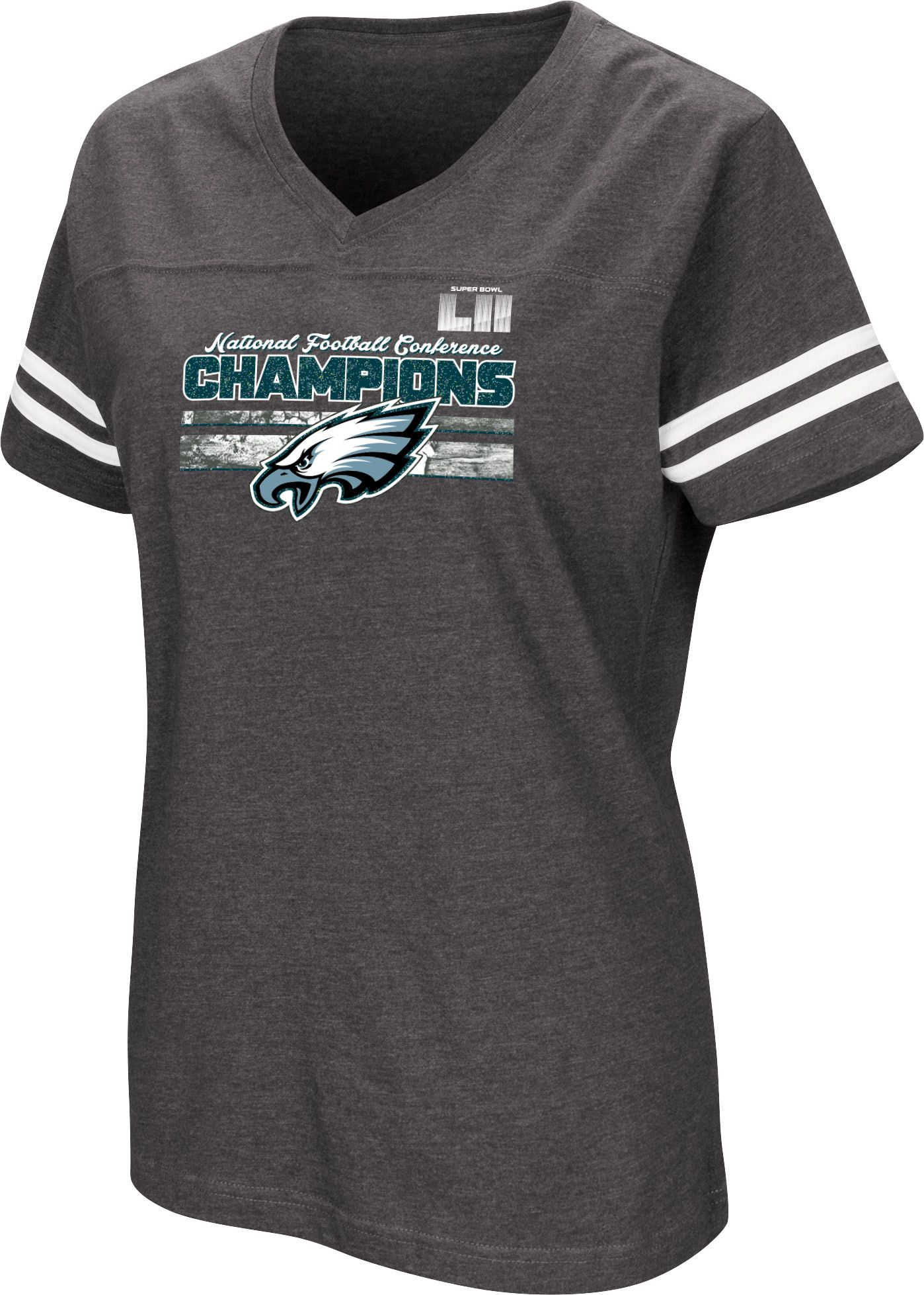 Product Image � NFL Women\u0027s NFC Conference Champions Philadelphia Eagles  Delivering Victory Charcoal T-Shirt