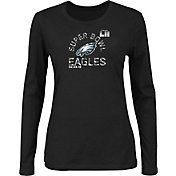 NFL Women's Super Bowl LII Bound Philadelphia Eagles Go To Championship Black Long Sleeve Shirt
