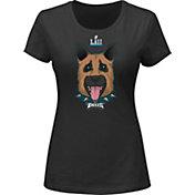 NFL Women's Super Bowl LII Underdog Philadelphia Eagles Black T-Shirt