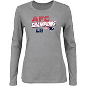 NFL Women's AFC Conference Champions New England Patriots Wonderstruck Grey Long Sleeve Shirt