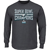 NFL Youth Super Bowl LII Champions Philadelphia Eagles Sudden Impact Charcoal Long Sleeve Shirt