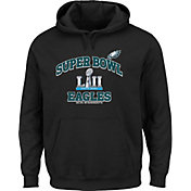 NFL Youth Super Bowl LII Bound Philadelphia Eagles Heart and Soul Black Hoodie