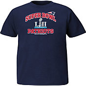 NFL Youth Super Bowl LII Bound New England Patriots Heart and Soul Navy T-Shirt