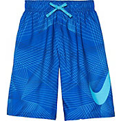 Nike Boy's Flywire Line Swoosh Breaker Swim Trunks