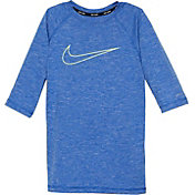 Nike Boys' Heather Swoosh Half Sleeve Hydro Rash Guard