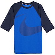 Nike Boy's Macro Swoosh Half Sleeve Hydro Rash Guard