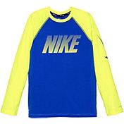 Nike Boy's Solid Long Sleeve Hydro Rash Guard