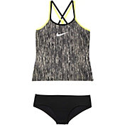 Nike Girls' Rush Heather Spider Back Tankini Set
