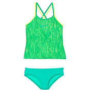 Nike Girl's Rush Heather Spider Back Tankini Set