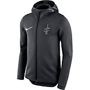 Nike Men's Cleveland Cavaliers On-Court Black Therma Flex Showtime Full-Zip Hoodie