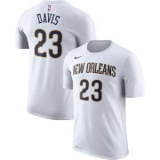 Nike Men's New Orleans Pelicans Anthony Davis #23 Dri-FIT White T-Shirt