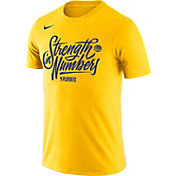 """Nike Men's Golden State Warriors 2018 Playoffs """"Strength In Numbers"""" Dri-FIT T-Shirt"""
