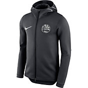 Nike Men's Golden State Warriors On-Court Black Therma Flex Showtime Full-Zip Hoodie