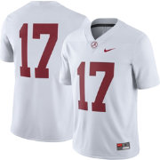 Nike Men's Alabama Crimson Tide #17 Game Football White Jersey