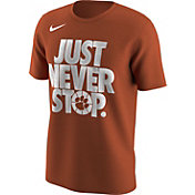 Nike Men's Clemson Tigers Orange 'Just Never Stop' Selection T-Shirt