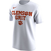 Nike Men's Clemson Tigers 'Clemson Grit' Bench Legend White T-Shirt