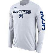 Nike Men's Creighton Bluejays 'Let It Fly' Bench Legend Long Sleeve White T-Shirt