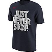 Nike Men's Gonzaga Bulldogs Blue 'Just Never Stop' Selection T-Shirt