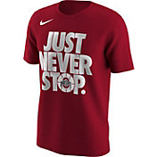 Nike Men's Ohio State Buckeyes Scarlet 'Just Never Stop' Selection T-Shirt