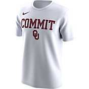 Nike Men's Oklahoma Sooners 'Commit' Bench Legend White T-Shirt