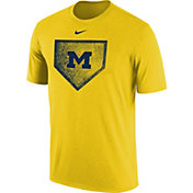 Nike Men's Michigan Wolverines Maize Baseball Diamond T-Shirt