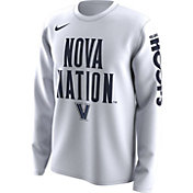 Nike Men's Villanova Wildcats 'Nova Nation' Bench Legend Long Sleeve White T-Shirt