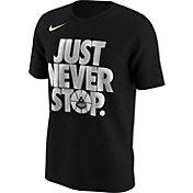 Nike Men's Purdue Boilermakers Black 'Just Never Stop' Selection T-Shirt