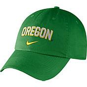 Nike Men's Oregon Ducks Green Heritage86 Wordmark Swoosh Flex Hat