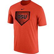 Nike Men's Oregon State Beavers Ornage Baseball Diamond T-Shirt