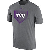 Nike Men's TCU Horned Frogs Grey Baseball Diamond T-Shirt