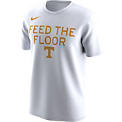 Nike Men's Tennessee Volunteers 'Feed the Floor' Bench Legend White T-Shirt