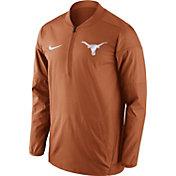Nike Men's Texas Longhorns Burnt Orange Lockdown Sideline Half-Zip Jacket
