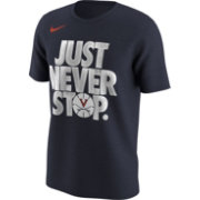 Nike Men's Virginia Cavaliers Blue 'Just Never Stop' Selection T-Shirt