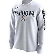 Nike Men's Virginia Cavaliers 'Wahoowa' Bench Legend Long Sleeve White T-Shirt