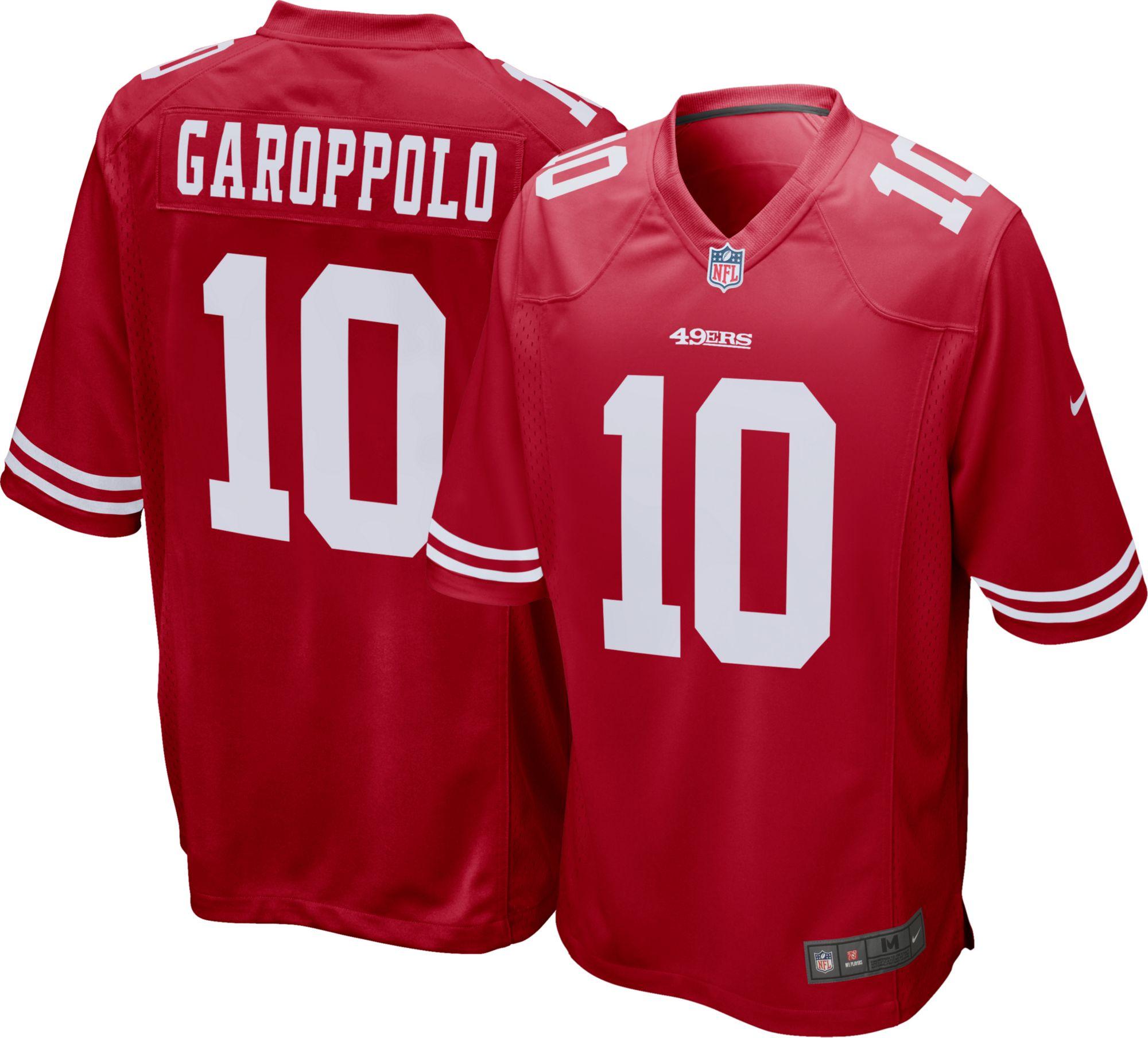 a89a5f1c7 ... Nike Mens Home Game Jersey San Francisco 49ers Jimmy Garoppolo 10 ...