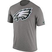 Nike Men's Philadelphia Eagles Legend Logo Grey T-Shirt