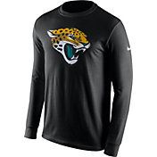 Nike Men's Jacksonville Jaguars Logo Black Long Sleeve Shirt