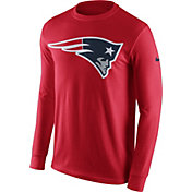Nike Men's New England Patriots Logo Red Long Sleeve Shirt