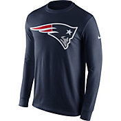 Nike Men's New England Patriots Logo Navy Long Sleeve Shirt