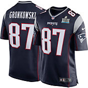 Nike Men's Super Bowl LII Bound New England Patriots Rob Gronkowski #87 Navy Game Jersey