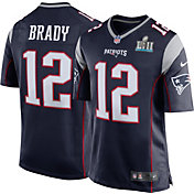 Nike Men's Super Bowl LII Bound New England Patriots Tom Brady #12 Navy Game Jersey