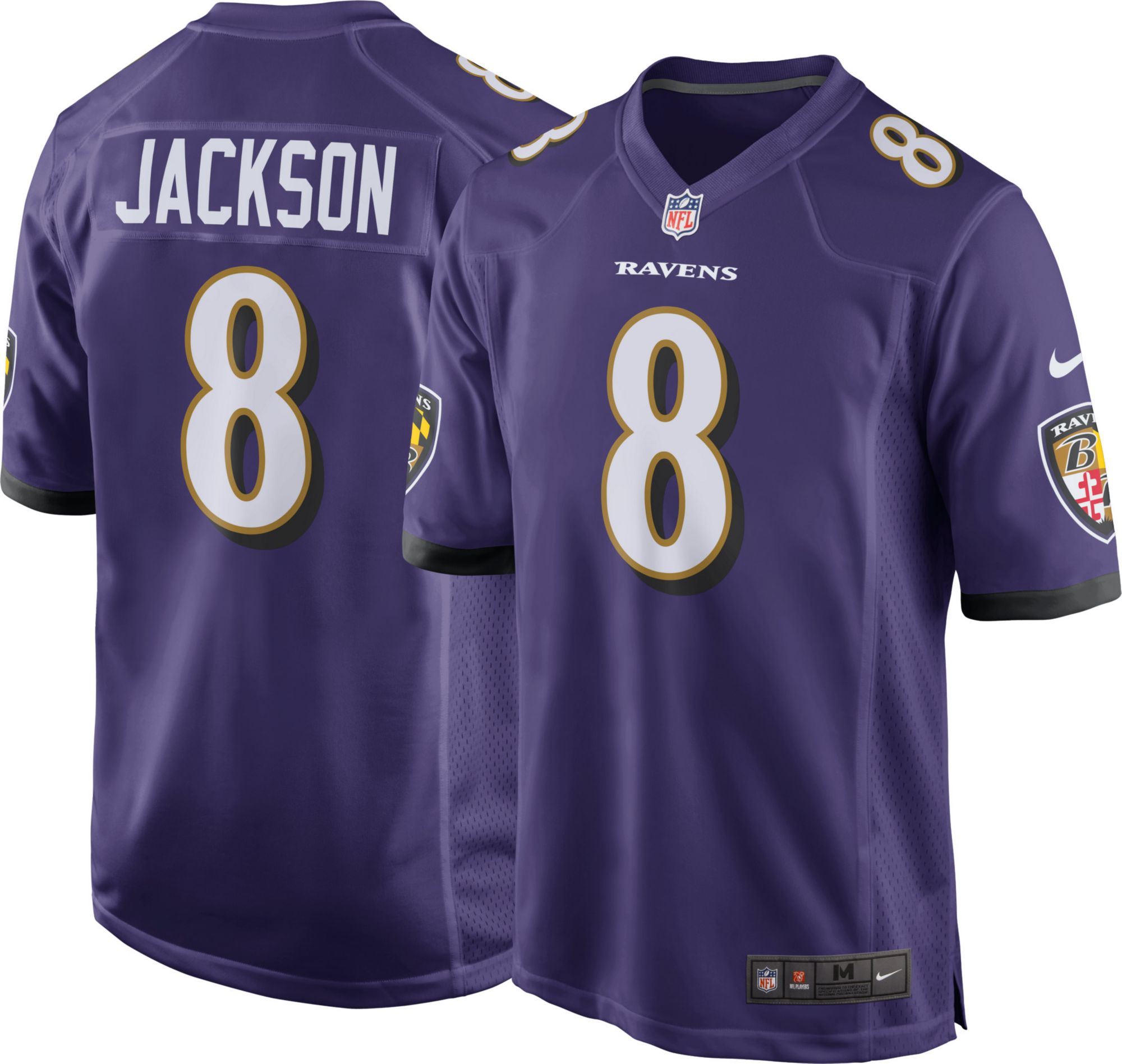 Youth Baltimore Ravens 8 Lamar Jackson Purple Team Color Stitched NFL Nike  Game Jersey Lamar Jackson 8 Nike Mens Baltimore Ravens Home Game Jersey ... 8f5b0192e