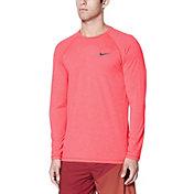 Nike Men's Heather Long Sleeve Hydro Rash Guard