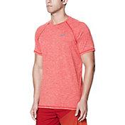 Nike Men's Heather Short Sleeve Hydro Rash Guard