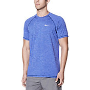 Nike Men's Heather Short Sleeve Hydro Rash Guard