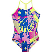 Nike Girl's Drift Graffiti T-Back Swimsuit