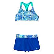 Nike Girls' Amp Axis Racerback Sport Top Short Set