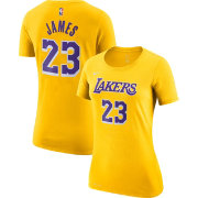 Gold - Nike Women's Los Angeles Lakers LeBron James Dri-FIT T-Shirt
