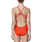 Nike Women's Geo Alloy Cut Out V-Back Swimsuit